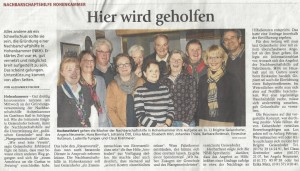 "Freisinger Tagblatt, 18.01.2013 - ""Hier wird geholfen"""